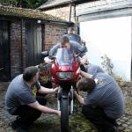 バイクのユーザー車検で車検場に行く前にやっておくべきこと、その1
