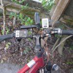 電動アシストクロスバイクハリヤにハンドルバー 延長ブラケットを取り付けました。