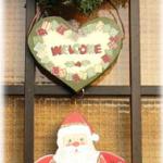 クリスマスカラーのウェルカムボード