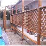 隣の境(東側のフェンス)の作成—その1
