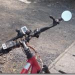 電動アシスト自転車 クロスバイクハリヤに四代目ミラーを取り付けました。これまでで一番の満足度です。
