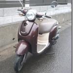 HONDAのスクータ、ジヨルノ(GIORNO)のヘッドライトバルブ交換