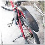 電動アシストクロスバイクハリヤで実際に通勤してみて_その3-泥よけについて