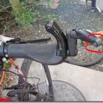電動アシストクロスバイクハリヤのバックミラーの補修