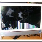液晶ディスプレイが破損したNECのパソコンVN770FS6Wのパネル交換