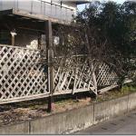 南側フェンスのその後、13年後老朽化の修復を行いました。