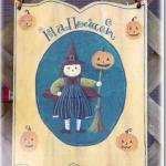 ハロウィンガールのウェルカムボード